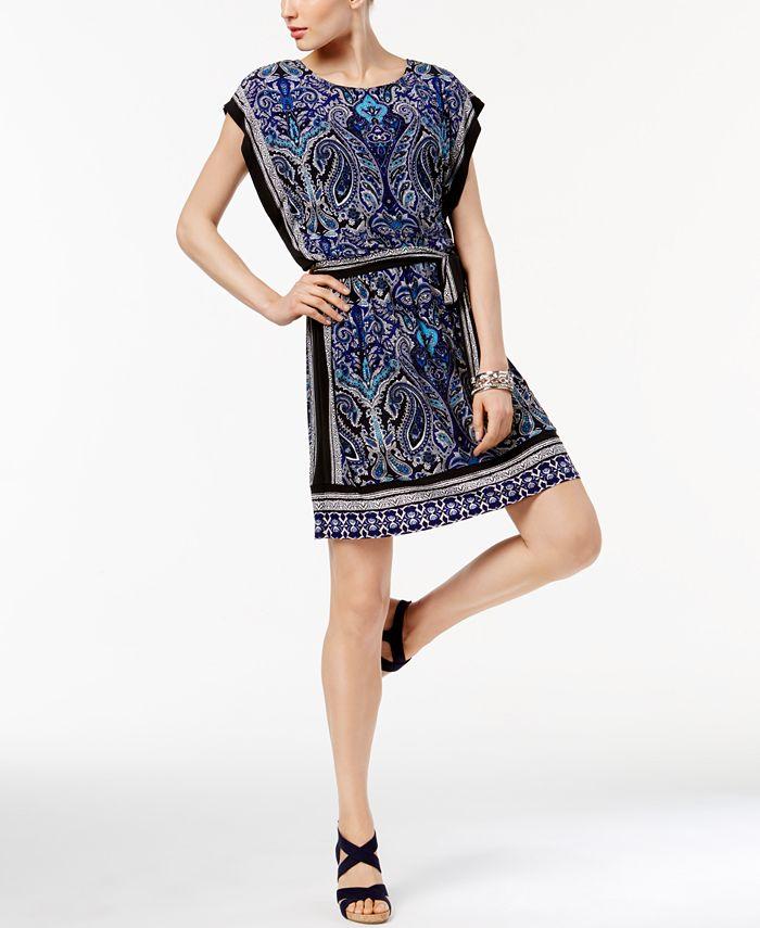 INC International Concepts - Petite Printed Blouson Dress