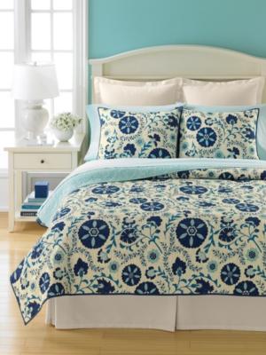 Martha Stewart Collection Bedding, Suri Flowers Standard Sham Bedding