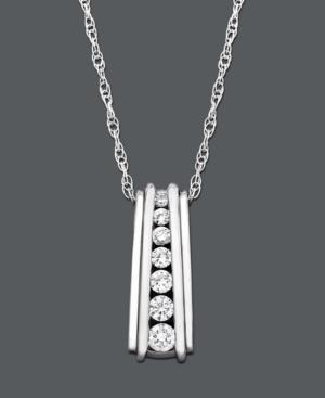 Diamond Necklace, 14k White Gold Diamond Certified Near Colorless Pendant (1/4 ct. t.w.)