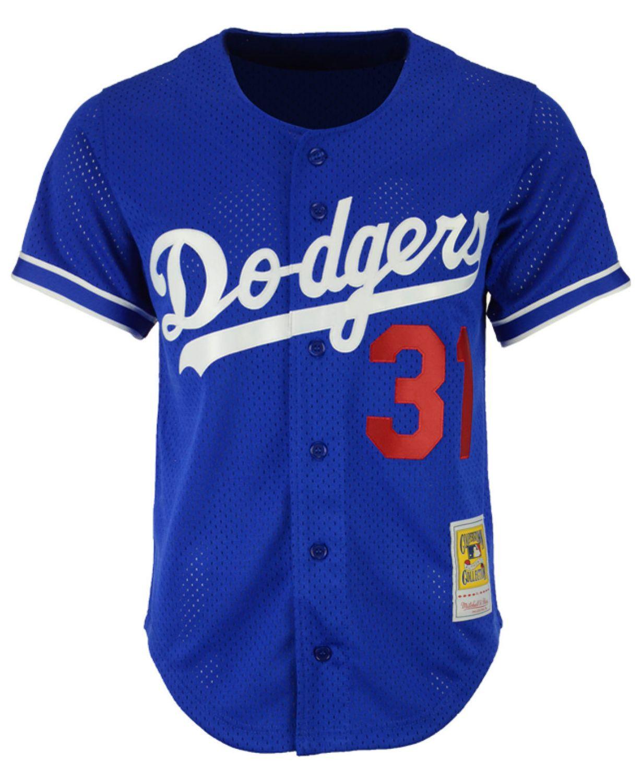 Mitchell & Ness Men's Mike Piazza Los Angeles Dodgers Authentic Mesh Batting Practice V-Neck Jersey  & Reviews - Sports Fan Shop By Lids - Men - Macy's