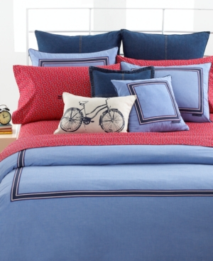 Tommy Hilfiger Bedding, Blue Oxford Twin Comforter Bedding