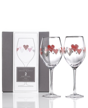 Charter Club Glassware, Set of 2 Novelty Crush Wine Glasses