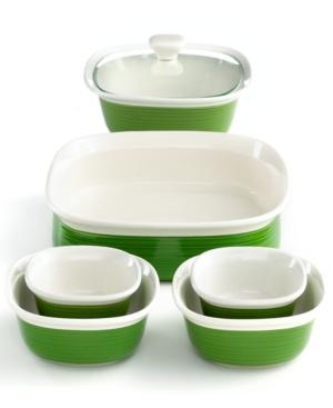 Corningware Bakeware Set, 7 Piece Etch Grass