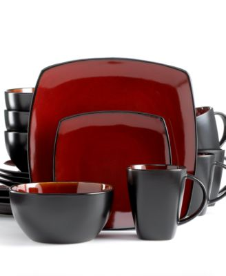 Signature Living Dinnerware, Barcelona Red 16 Piece Set