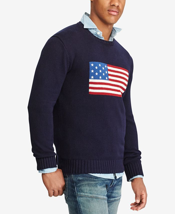 Polo Ralph Lauren - Men's American Flag Cotton Sweater