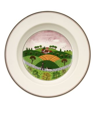 Villeroy & Boch Dinnerware, Design Naif Rim Soup Bowl Hunter & Dog