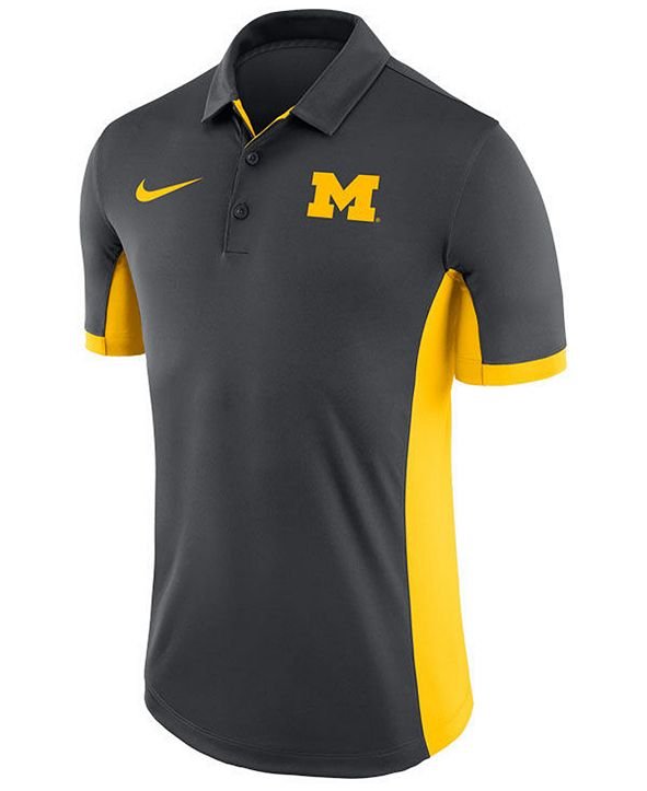 Nike Men's Michigan Wolverines Evergreen Polo