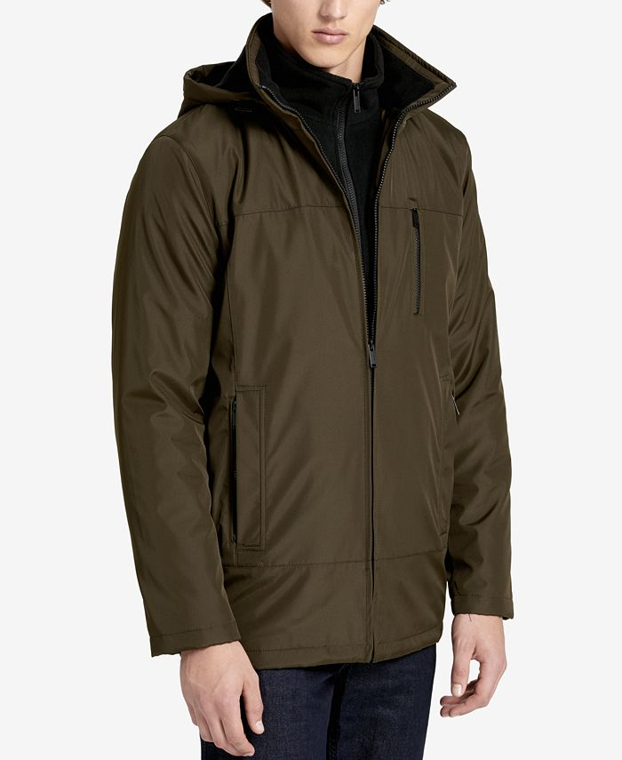 Calvin Klein - Men's Fleece-Lined Hooded Jacket