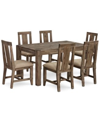 Furniture Canyon Small 7 Pc Dining Set 60 Dining Table 6 Side Chairs Created For Macy S Reviews Furniture Macy S