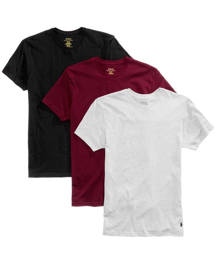 Polo Ralph Lauren Men's 3-Pack. Cotton Crew T-Shirts & Reviews ...