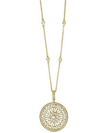 """EFFY® Diamond Filigree Pendant 18"""" Necklace (1 ct. t.w.) in 14k Gold, White Gold or Rose Gold"""