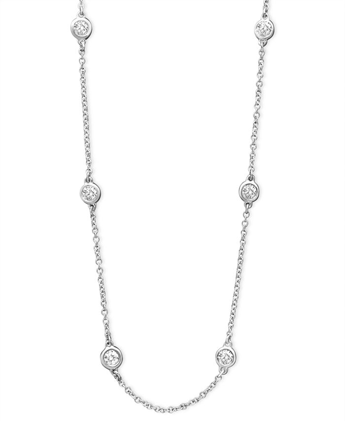 "EFFY Collection - Diamond Seven Station 16-18"" (1/2 ct. t.w.) in 14k White, Yellow, or Rose Gold"