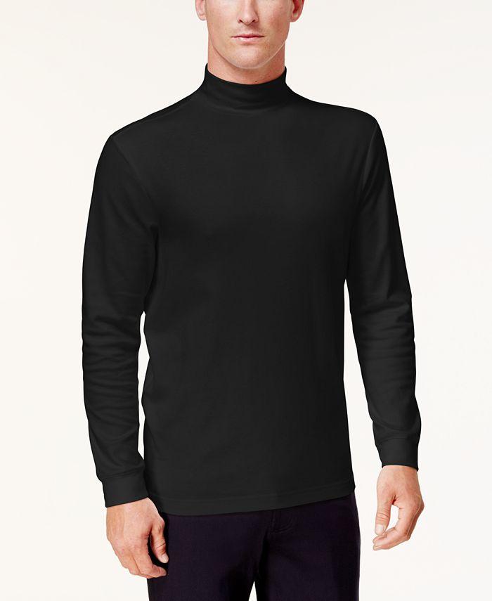 Club Room - Men's Solid Mock-Neck Shirt