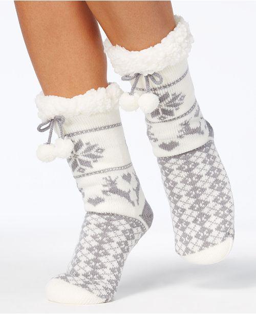 Charter Club Women's Slipper Socks, Created for Macy's & Reviews - Handbags  & Accessories - Macy's