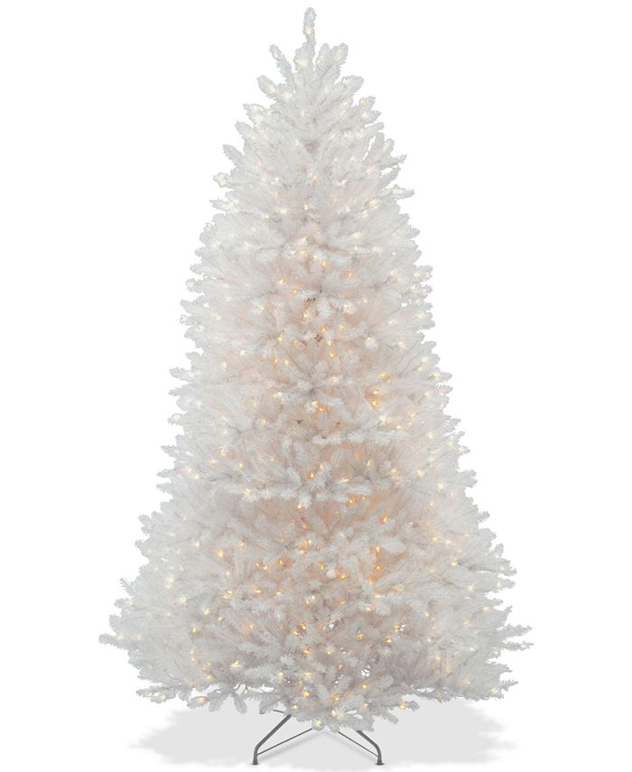 National Tree Company - 7.5' Dunhill® White Fir Hinged Tree With 750 Clear Lights