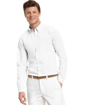 Club Room Shirt, Slim Fit Button Front