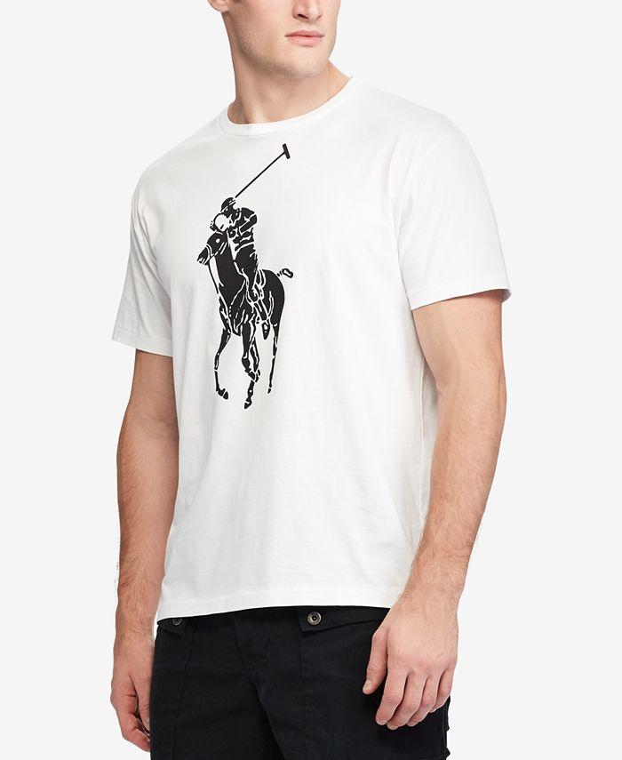 Polo Ralph Lauren Men's Classic-Fit Big Pony T-Shirt & Reviews - T ...