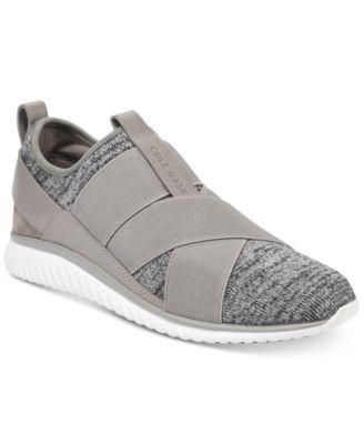 Cross-Strap Knit Trainer Sneakers