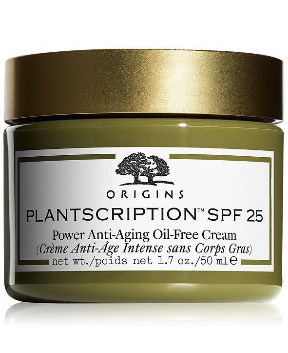 Origins Plantscription SPF 25 Power Anti-Aging Oil-Free Cream, 1.7-oz.