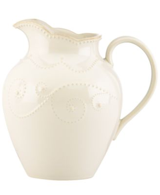 Lenox Dinnerware, French Perle White Medium Pitcher