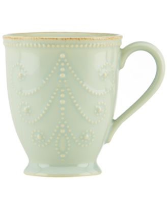 Lenox Dinnerware, French Perle Ice Blue Mug