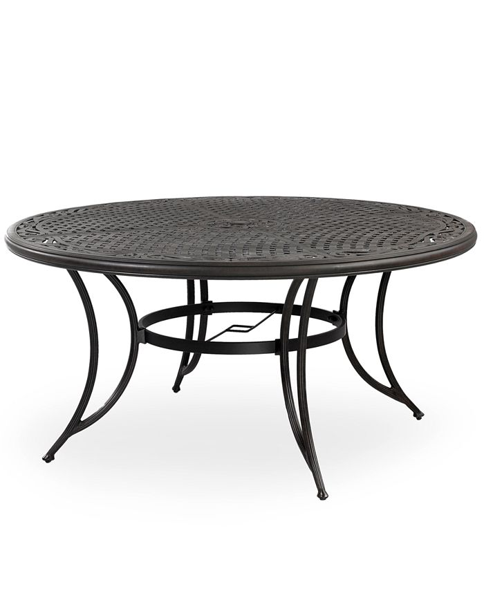 "Furniture - Aluminum 48"" Round Outdoor Dining Table"