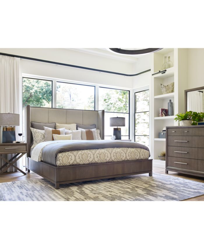 Furniture Rachael Ray Highline Upholstered Shelter King Bed & Reviews - Furniture - Macy's