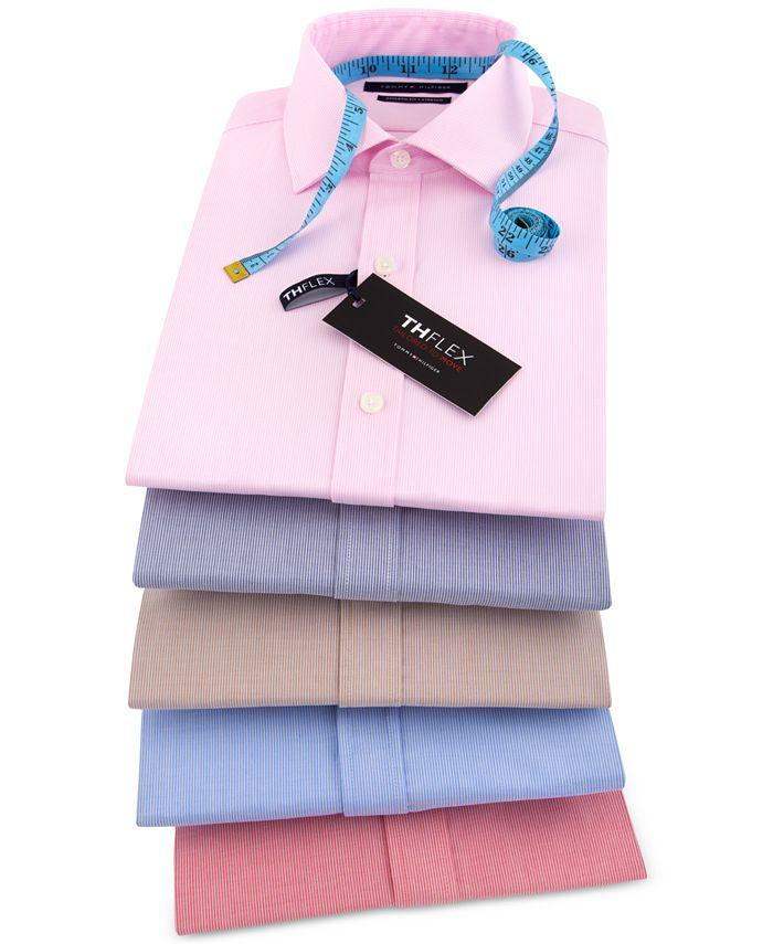 Tommy Hilfiger - Men's Fitted Flex-Collar Performance Dress Shirt