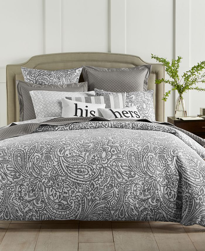 Charter Club - Damask Designs Stone Paisley 300-Thread Count 2-Pc. Twin Comforter Set