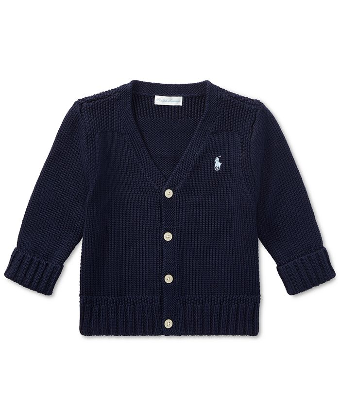 Polo Ralph Lauren - Baby Boys Combed Cotton V-Neck Cardigan