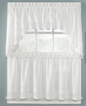 "Peri Window Treaments, Crochet 58"" x 14"" Tailored Valance Bedding"
