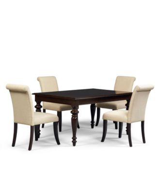 Lux Dining Room Furniture 5 Piece Set Table And 4 Side Chairs Furniture
