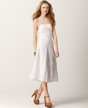 Free People Dress, Sleeveless Lace Panels