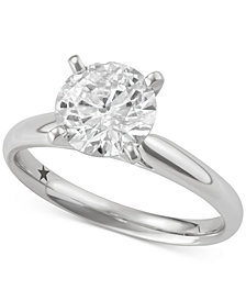 Macy's Star Signature Diamond™ Solitaire Engagement Ring (2 ct. t.w.) in 14k White or Yellow Gold