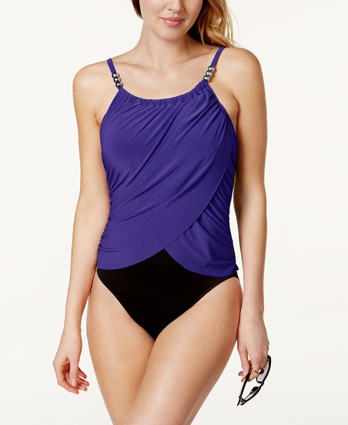 Magicsuit - Swimsuit, Spaghetti-Strap Draped Tummy-Control One-Piece