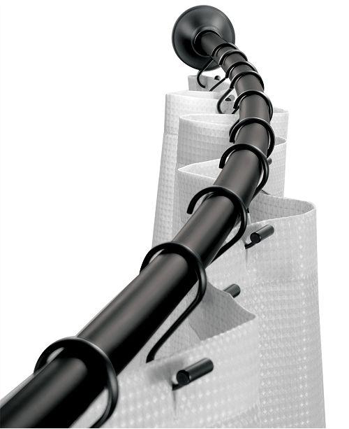 Interdesign Curved Matte Black Shower Curtain Rod 41