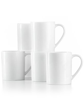 White Elements Set of 6 Mugs