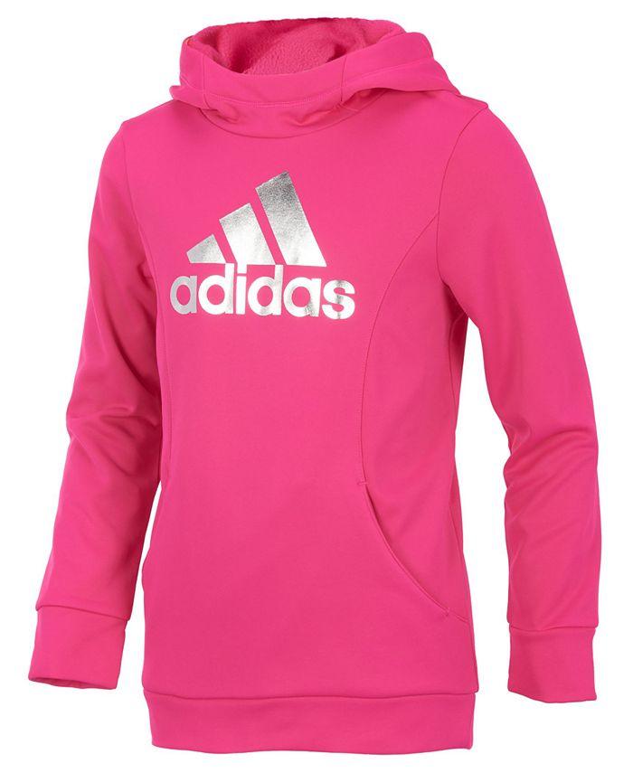 adidas - Logo-Print Performance Hoodie, Big Girls (7-16)