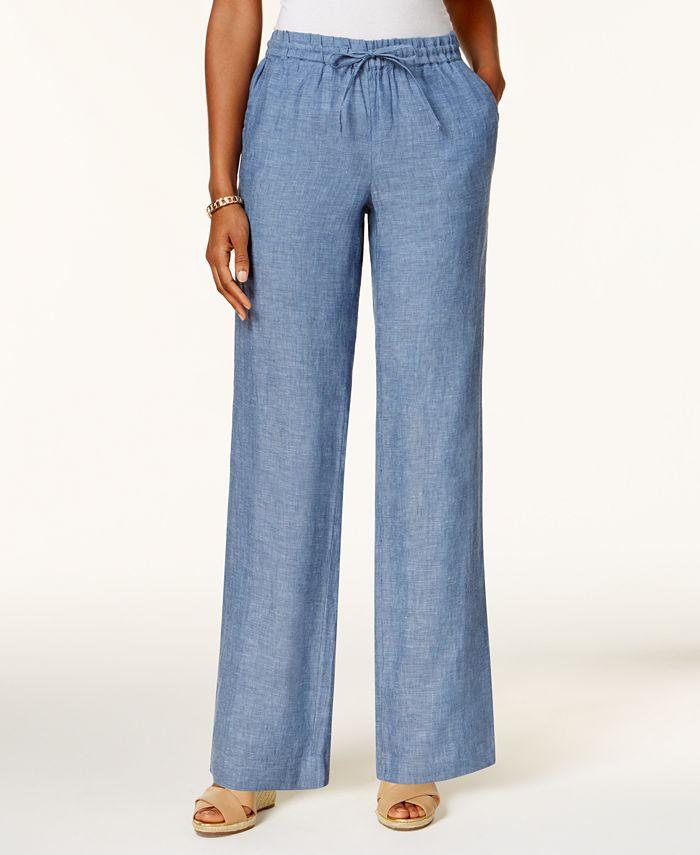 Charter Club - Linen Petite Drawstring Pants