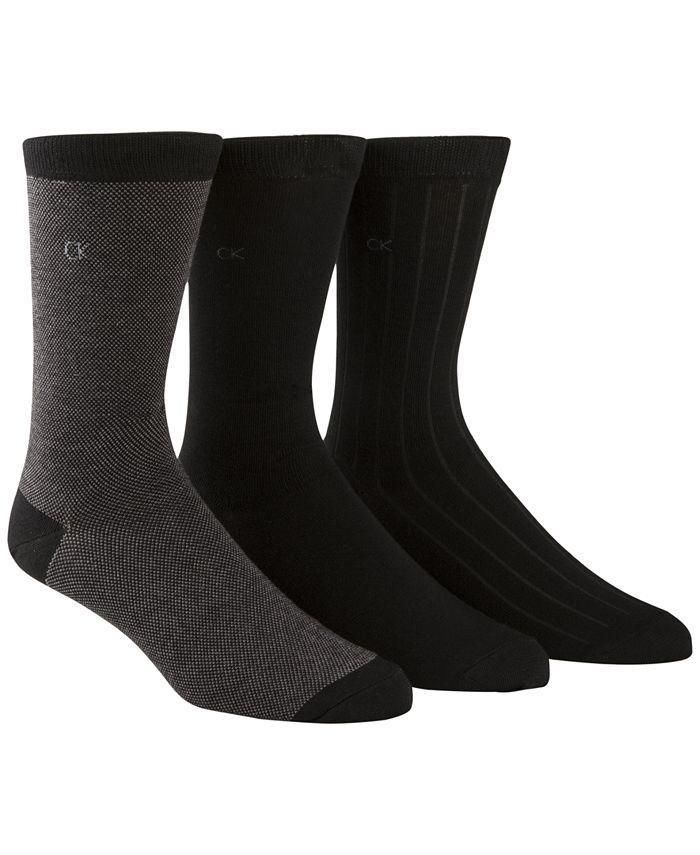 Calvin Klein - Men's 3-Pk. Birdseye Ribbed Socks