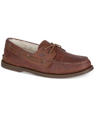 Eye Faux-Fur Lined Boat Shoes