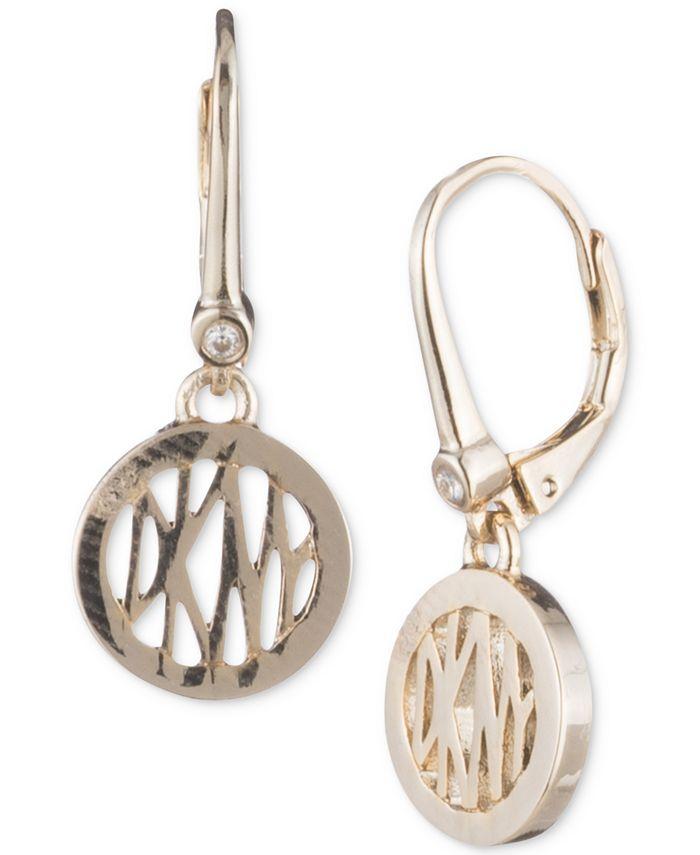 DKNY - Logo Circle Drop Earrings
