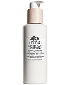 Origins Three Part Harmony Foaming Cream-to-Oil Cleanser for Renewal, Replenishment and Radiance, 5 oz