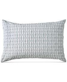 DKNY Refresh Cotton Tufted-Chenille Broken Stripe Standard Sham