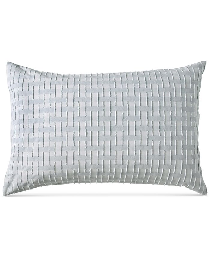 DKNY - Refresh Cotton Tufted-Chenille Broken Stripe Standard Sham