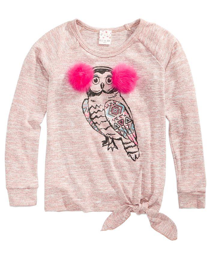 Belle Du Jour - Owl Sweater, Big Girls (7-16)