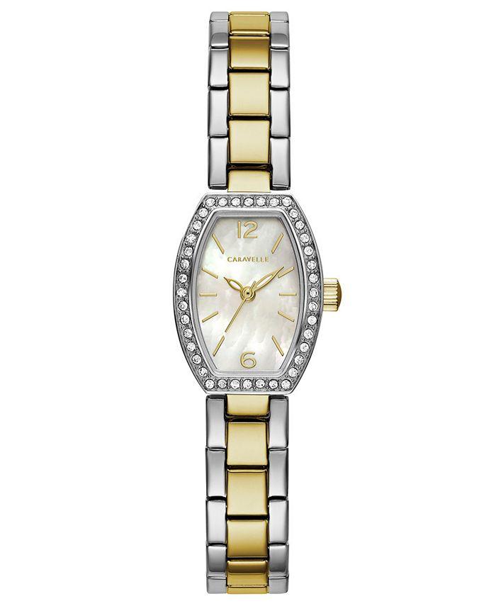 Caravelle - Women's Two-Tone Stainless Steel Bracelet Watch 18x24mm