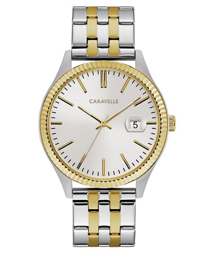 Caravelle - Men's Two-Tone Stainless Steel Bracelet Watch 41mm