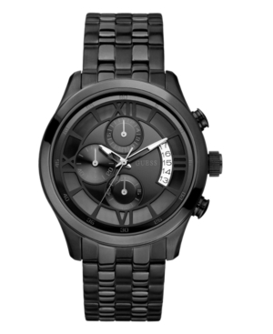 GUESS Watch, Men's Chronograph Black Ion Plated Stainless Steel Bracelet 25mm U17526G1