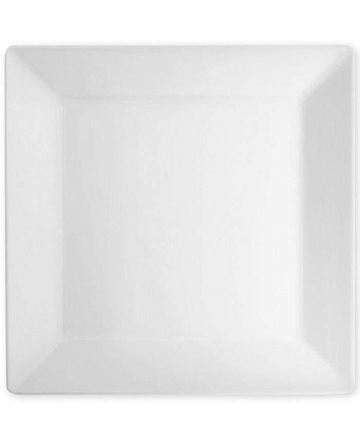 "Q Squared - Diamond Square 10.5"" Melamine Dinner Plates, Set Of 4"